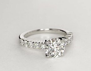 Bella Diamond Engagement Ring in Platinum