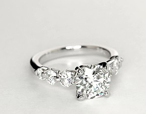 Floating Diamond Engagement Ring in Platinum (3/4 ct. tw.)
