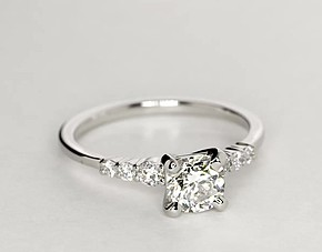 Petite Diamond Engagement Ring in Platinum (1/4 ct. tw.)