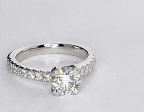 Nouveau Diamond Engagement Ring in Platinum (1/3 ct. tw.)