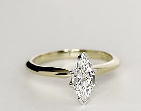 Classic Six Prong Engagement Solitaire Ring in 18k Yellow Gold