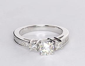 Channel Set Diamond Engagement Ring in Platinum (1/4 ct. tw.)