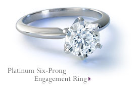 Platinum Six-Claw Engagement Ring