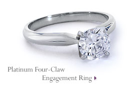 Platinum Four-Claw Engagement Ring