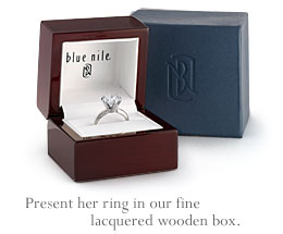 Present her ring in our fine lacquered wooden box.