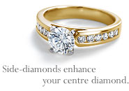 Side-diamonds enhance your centre diamond.