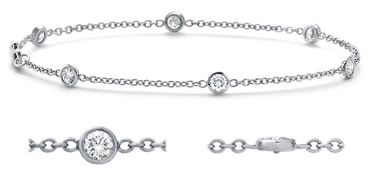 DB27400100 zoom - Diamond Bracelets
