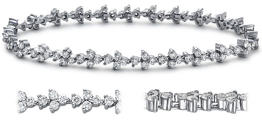 DB27400400 zoom - Diamond Bracelets