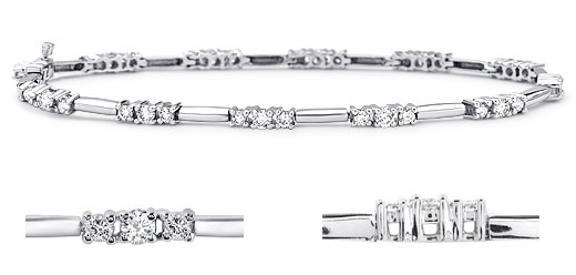 DB56400300 zoom - Diamond Bracelets