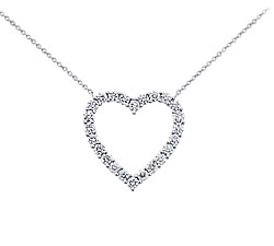 Blue Nile Platinum 2 Carat Diamond Heart Pendant, $3300 Retail